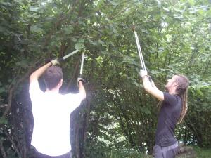 Edu i Joan, voluntaris a MónNatura Pirineus