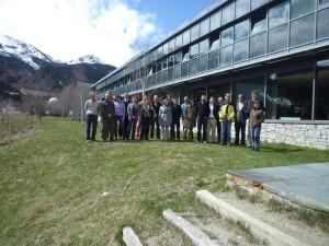 Foto de grup dels participants del taller per dissenyar el projecte del Gran Connector de Muntanyes de Nord Portugal als Alps (2013)